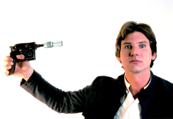 """Harrison Ford in publicity photo outake for """"The Empire Strikes Back."""""""